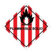 Hazard safety sign - Flammable Solid